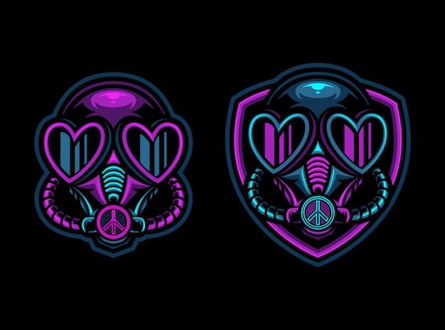 Logotipo de esport de máscara de veneno tóxico