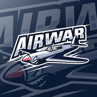 Logotipo de esport de mascota de airwar