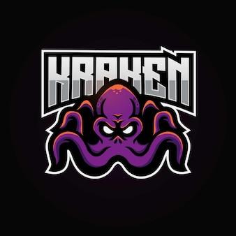 Logotipo de esport de la mascota de kraken
