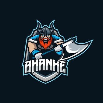 Logotipo de esport de la mascota vikinga