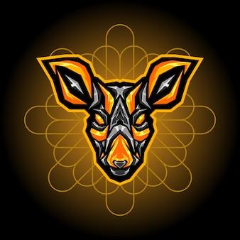 Logotipo de esports de acero de ciervo