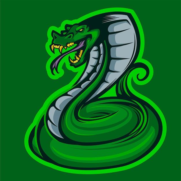 Logotipo de esports de la mascota de king cobra