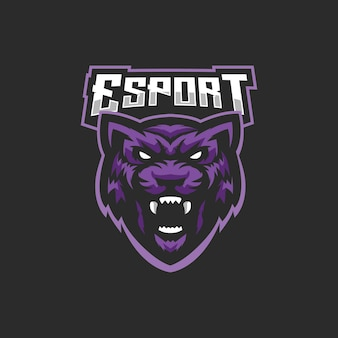 Logotipo de esports de pantera negra