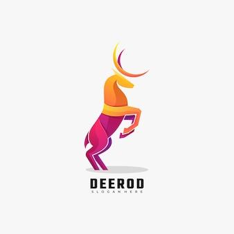 Logotipo de estilo colorido degradado de ciervos.
