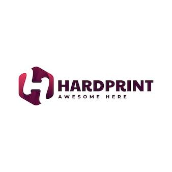 Logotipo de estilo colorido degradado de impresión dura