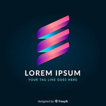 Logotipo de estilo degradado, geométrico, colorido y brillante