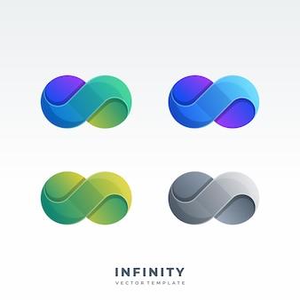 Logotipo de estilo de diseño de material infinito