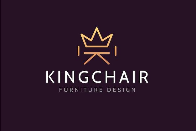 Logotipo de estilo elegante para empresa de muebles.