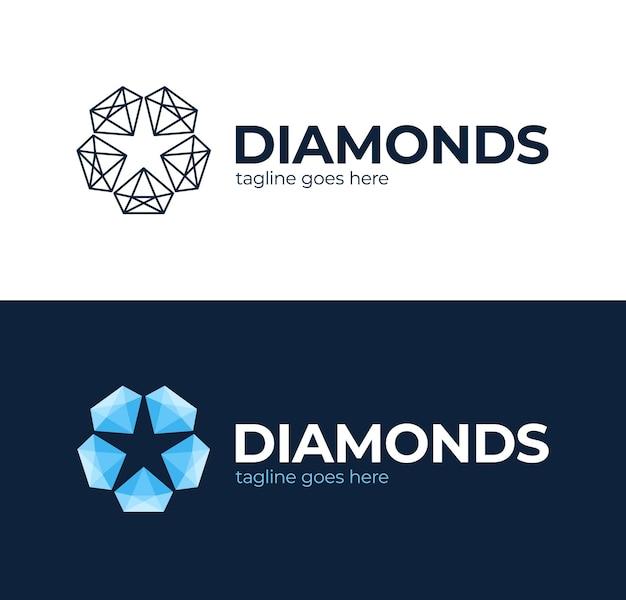 Logotipo de estrella de diamante.