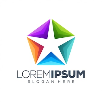 Logotipo de la estrella diseño ilustración logotipo