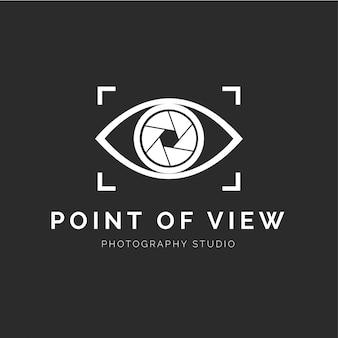 Logotipo de estudio de fotografía moderna
