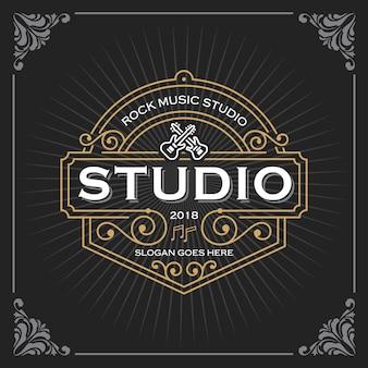 Logotipo de estudio de musica