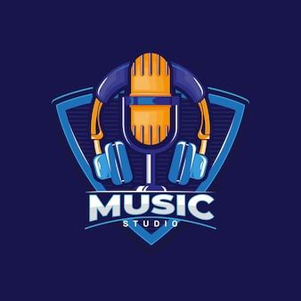 Logotipo de estudio de música.