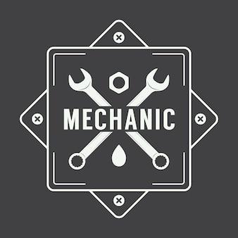 Logotipo de la etiqueta del mecánico