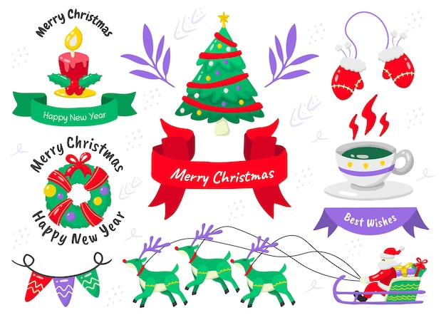 Logotipo de etiqueta de navidad