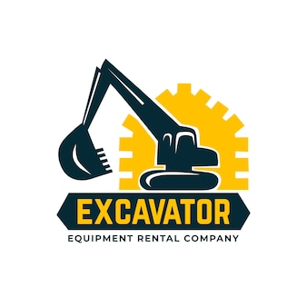 Logotipo de excavadora