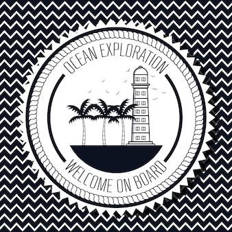 Logotipo de exploración del océano