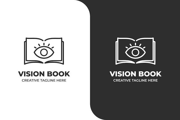 Logotipo de eye book monoline