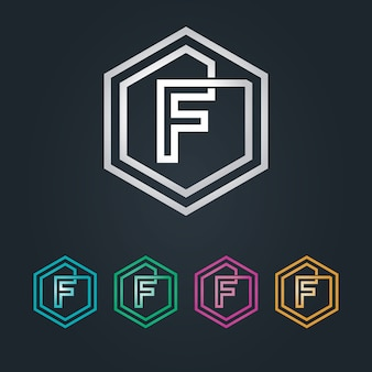 Logotipo de f hexagone
