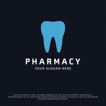 Logotipo de farmacia con un diente