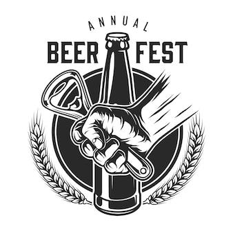 Logotipo de festival de cerveza vintage