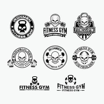 Logotipo de fitness calavera