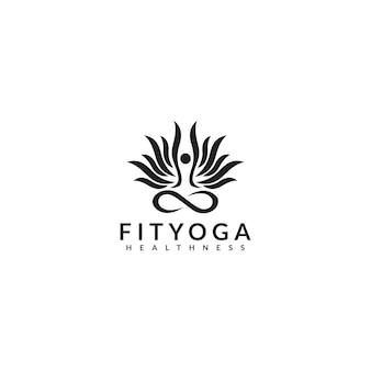 Logotipo de fityoga healthness
