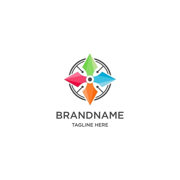 Logotipo de flecha en estilo colorido