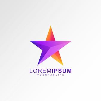 Logotipo de flecha estrella