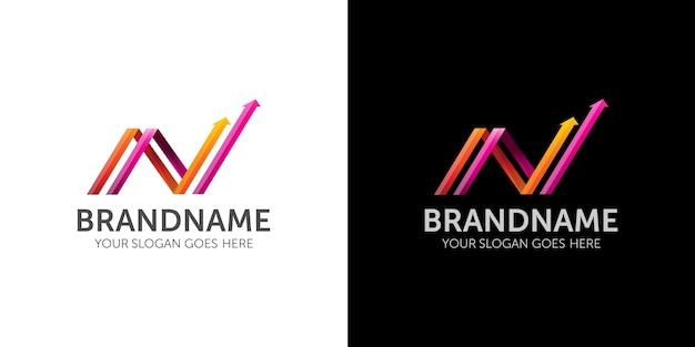 Logotipo de flecha letra n