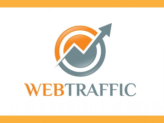 Logotipo de flechas de tecnología de red