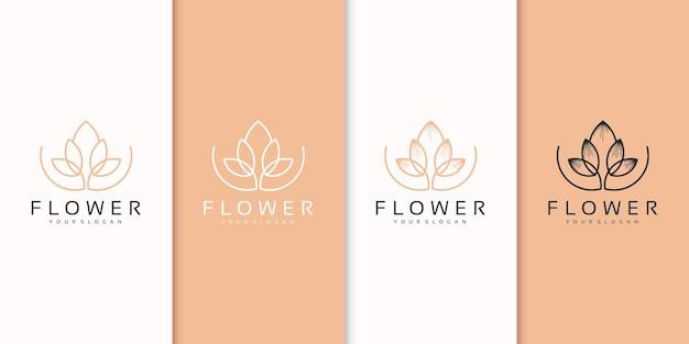 Logotipo de flor abstracta premium vector.