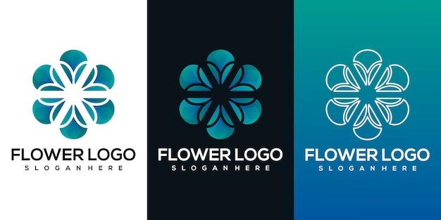 Logotipo de flor abstracta