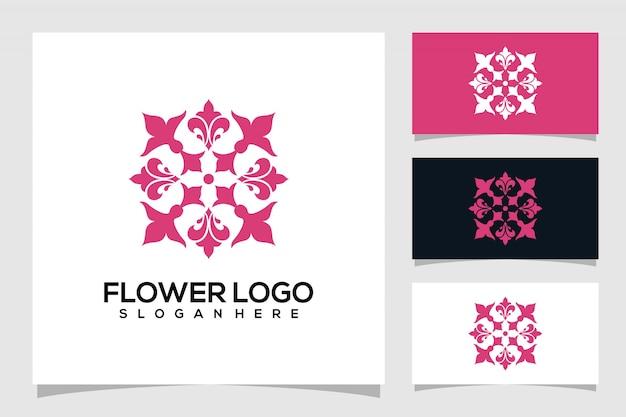 Logotipo de flor abstracto
