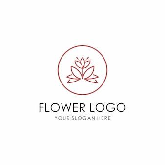 Logotipo de la flor. belleza, moda, salon