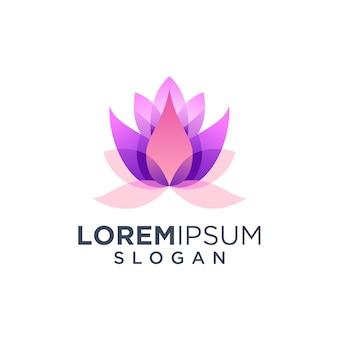 Logotipo de flor de loto
