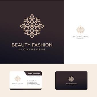 Logotipo de flor de lujo ornamental