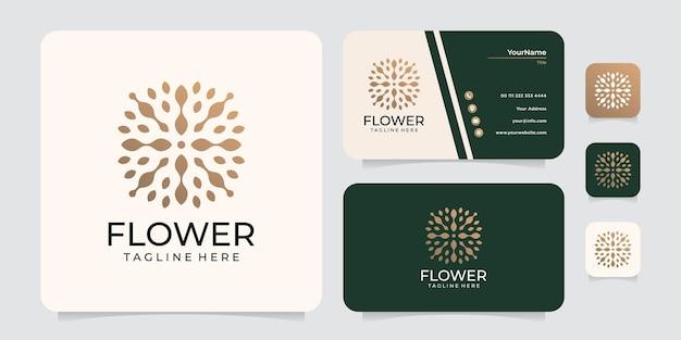Logotipo de flor minimalista