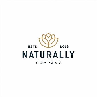 Logotipo de la flor de la naturaleza