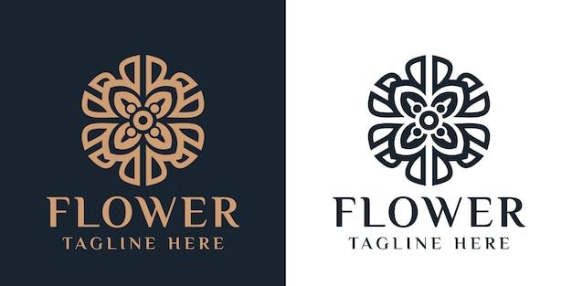 Logotipo de flor, plantilla