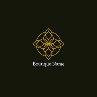 Logotipo floral boutique