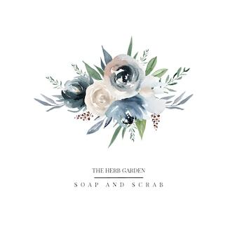Logotipo de flores del país