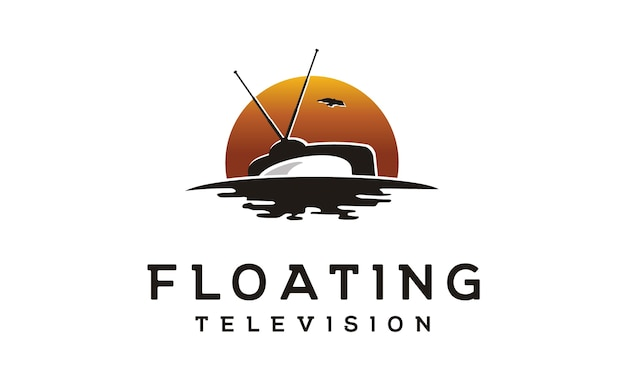 Logotipo flotante de producción de películas de televisión