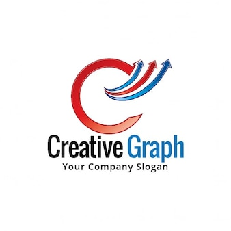 Logotipo con formas circulares y flechas