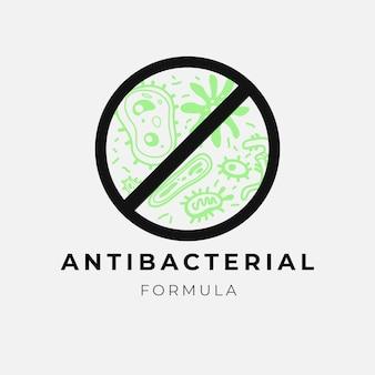 Logotipo de fórmula antibacteriana
