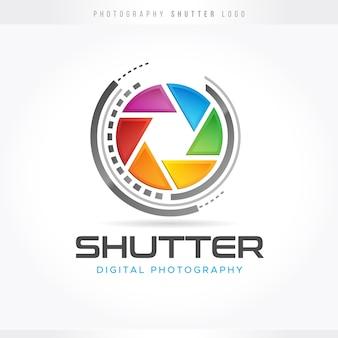 Logotipo de fotografía de obturador