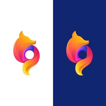Logotipo de fox circle