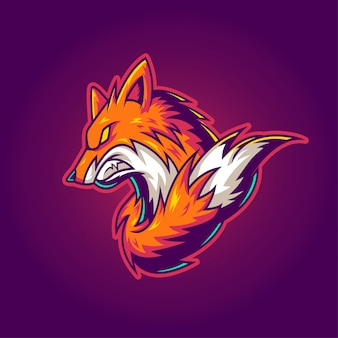 Logotipo de fox gaming