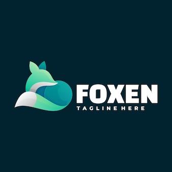 Logotipo de fox gradient colorful