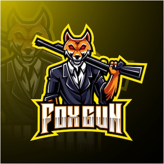 Logotipo de fox gun esport